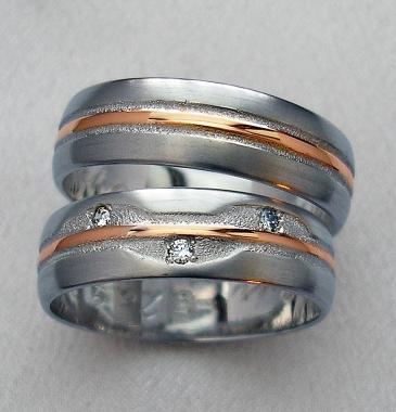 Svadobné obrúčky s diamanty